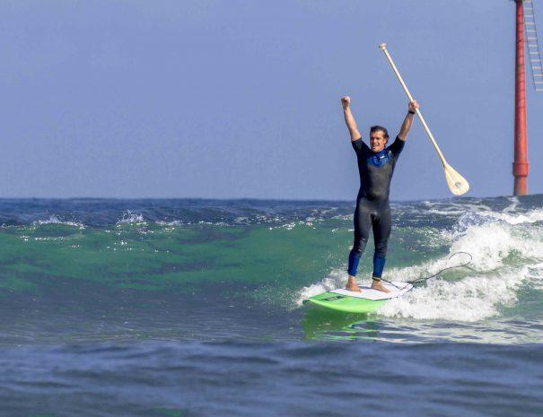 paddel surf en suances escuela para aprender sup y paddel surf